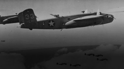 An American B-25, similar to one Don Scott flew.