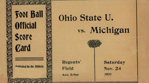 Ohio State U. vs. Michigan, 1900 via The Ohio State Archives