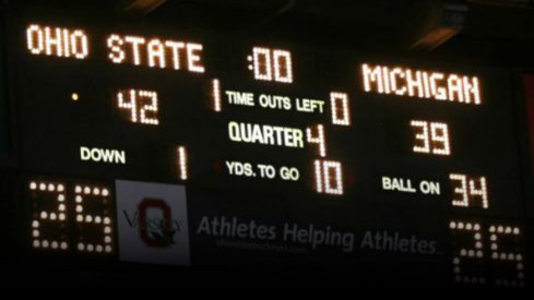 Scoreboard, Michigan. #deuces