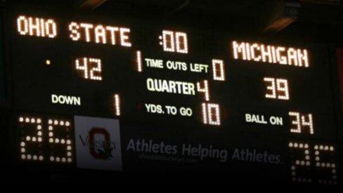 Scoreboard, Michigan. #deuces