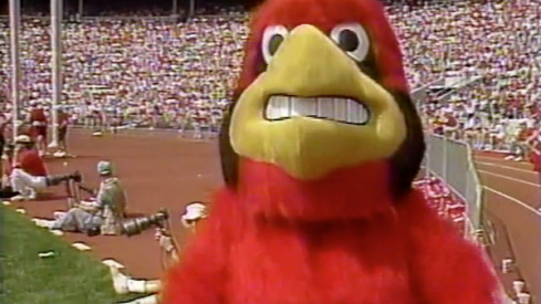 Louisville's mascot used to look like Droopy.