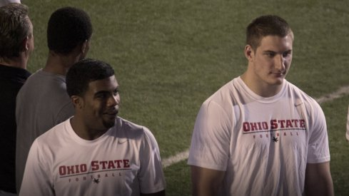 Current Buckeyes Ezekiel Elliott and Joey Bosa at Friday Night Lights 2013