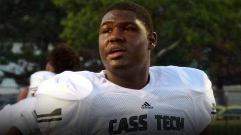 Defensive end Joshua Alabi becomes Ohio State's 14th commitment in the class of 2015.