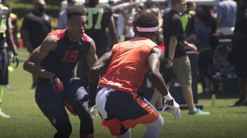 Lawrence Cager taking on Ohio State commit Tyler Green at The Opening.