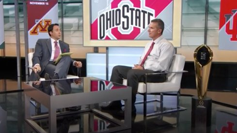 Urban Meyer on the set of SportsCenter Thursday.