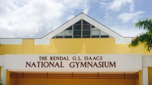 The Kendal G.L. Isaacs National Gymnasium in the Bahamas, host of tonight's Ohio State–Bahamas All-Star team game.
