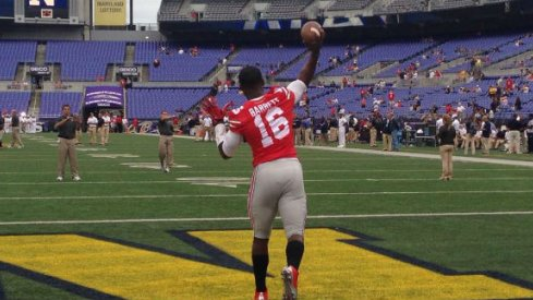 J.T. Barrett shined in his debut at quarterback for the Buckeyes.