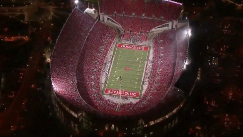 Ohio Stadium is loud for primetime games.