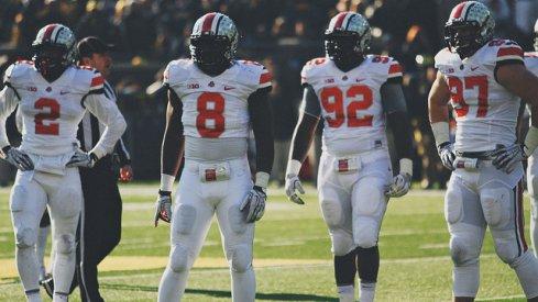 Ohio State's defensive line v. Michigan, 2013 [Walt Keys, ElevenWarriors.com]