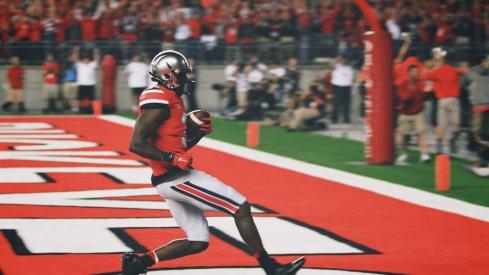 Michael Thomas scores against Virginia Tech.