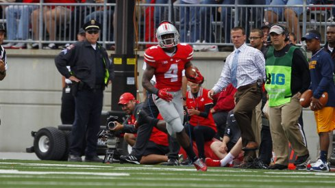 Curtis Samuel rushed for 100 yards against Kent State.