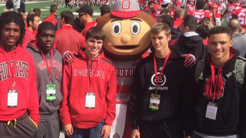Austin Mack (far right) and Auston Robertson (far left) visited Ohio State