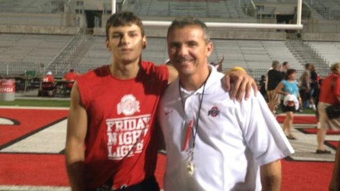 Alex Stump and Urban Meyer at Friday Night Light's, 2012.