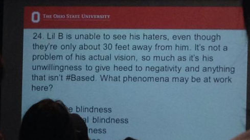Lil B of the Pack is present in this OSU psychology class