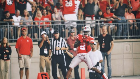 Dontre Wilson's first TD catch of 2014 shifted momentum back to the Buckeyes