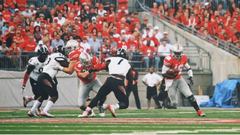 J.T. Barrett picking up one of Ohio State's 45 first downs.