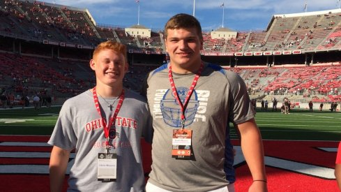 Myers (right) took in the Buckeye game on Saturday.