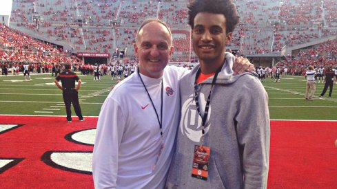 Braxton Blackwell and Thad Matta hang out before the Cincinnati game