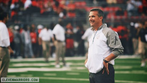 "Urban Meyer said Maryland has the ""most athletic"" defense Ohio State has seen so far this season."