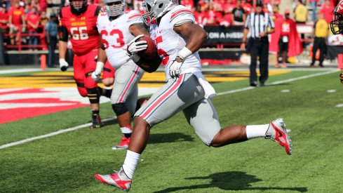 """Raekwon McMillan was the Maryland game's top """"pick""""."""