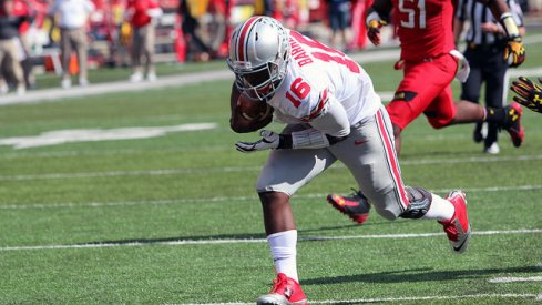 J.T. Barrett rumbles, bumbles, and stumbles to the endzone against Maryland
