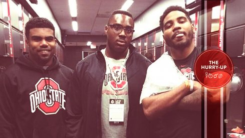Josh Wariboko hanging out with Buckeye royalty