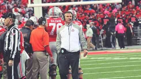 Urban Meyer and Ohio State are blaring crowd noise and Zombie Nation during practice in prep for Beaver Stadium.