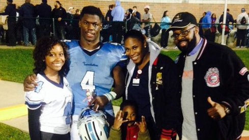 Jerome Baker and his family
