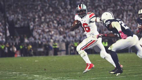 Urban Meyer gushed about J.T. Barrett's ability to fight through an injury Saturday night.