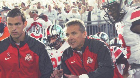"""Urban Meyer says """"there's a lot of football left"""" for Ohio State to move up in the College Football Playoff rankings."""