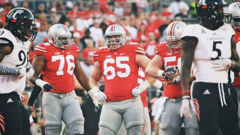 Pat Elflein, protector and zinger of Cardale Jones.