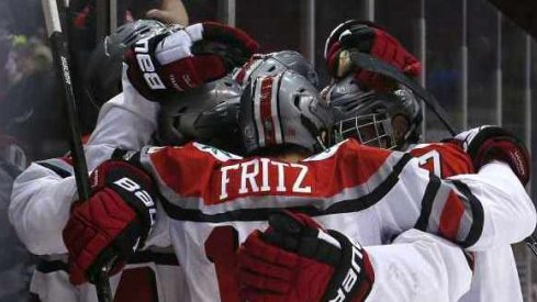Victory hugs