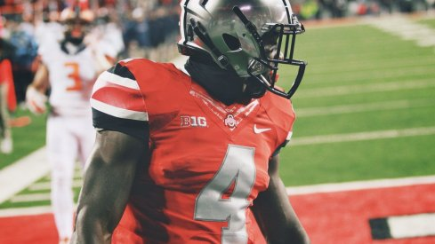 Curtis Samuel found the end zone twice in his first collegiate start at tailback.