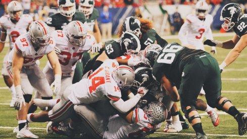 Buckeyes vs. Spartans on Saturday.