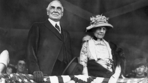 Warren G. Harding and his wife, the Duchess