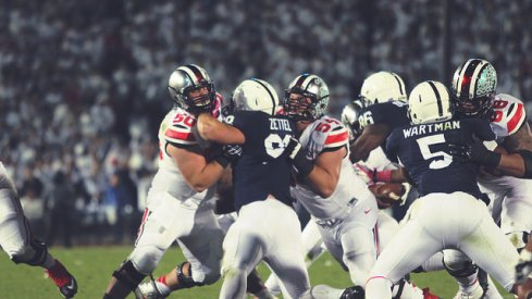 Ohio State's offensive line pushed around Michigan State Saturday night. You can thank Ed Warinner for expediting the unit's maturation process.