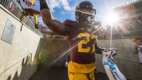 How many times will David Cobb carry the football against the Buckeyes?
