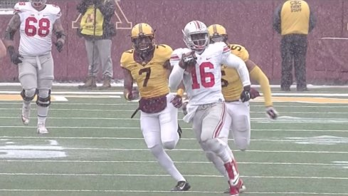J.T. Barrett set an Ohio State record with this 86-yard touchdown run.