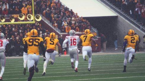 J.T. Barrett ran all over Minnesota.
