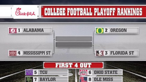 Urban Meyer's Ohio State Buckeyes climbed to No. 6 in the College Football Playoff Rankings this week.