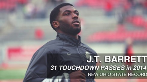 J.T. Barrett now owns the Ohio State record for touchdown passes in a season with 31.