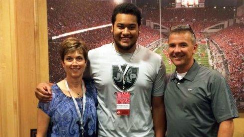 Brandon Bowen and his future coach, Urban Meyer.