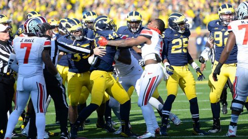 Ohio State and Michigan's annual clash is treated like war. So why are we so stunned when all that pent up aggression occasionally comes to blows?