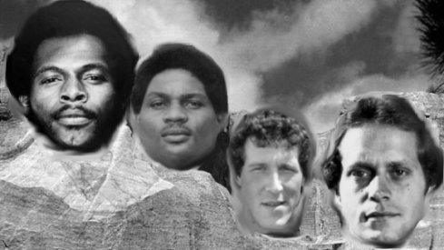 Mount Buckmore for the 70s features Archie Griffin, John Hicks, Tom Cousineau and Randy Gradishar.