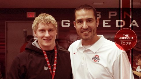 Luke Fickell and Jango Glackin at Ohio State.