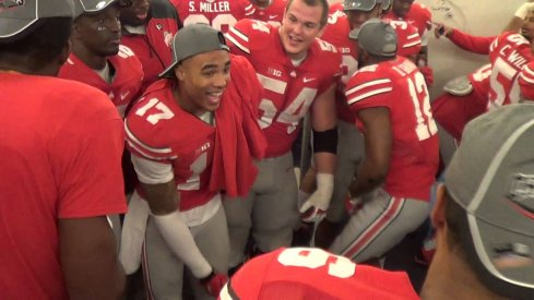 Jalin Marshall, Curtis Grant and other Buckeyes get down to Shy Glizzy in the locker room.