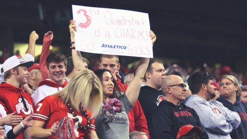 Ohio State fans in the Big Ten Championship Game.