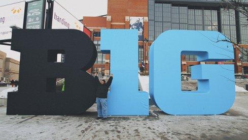 B-1-G logo in 2013 Big Ten Championship Game