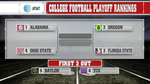 Alabama, Oregon, Florida State and Ohio State