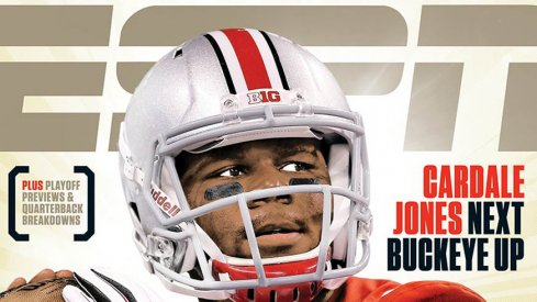 Ohio State quarterback Cardale Jones makes an appearance on a regional cover for ESPN the Magazine